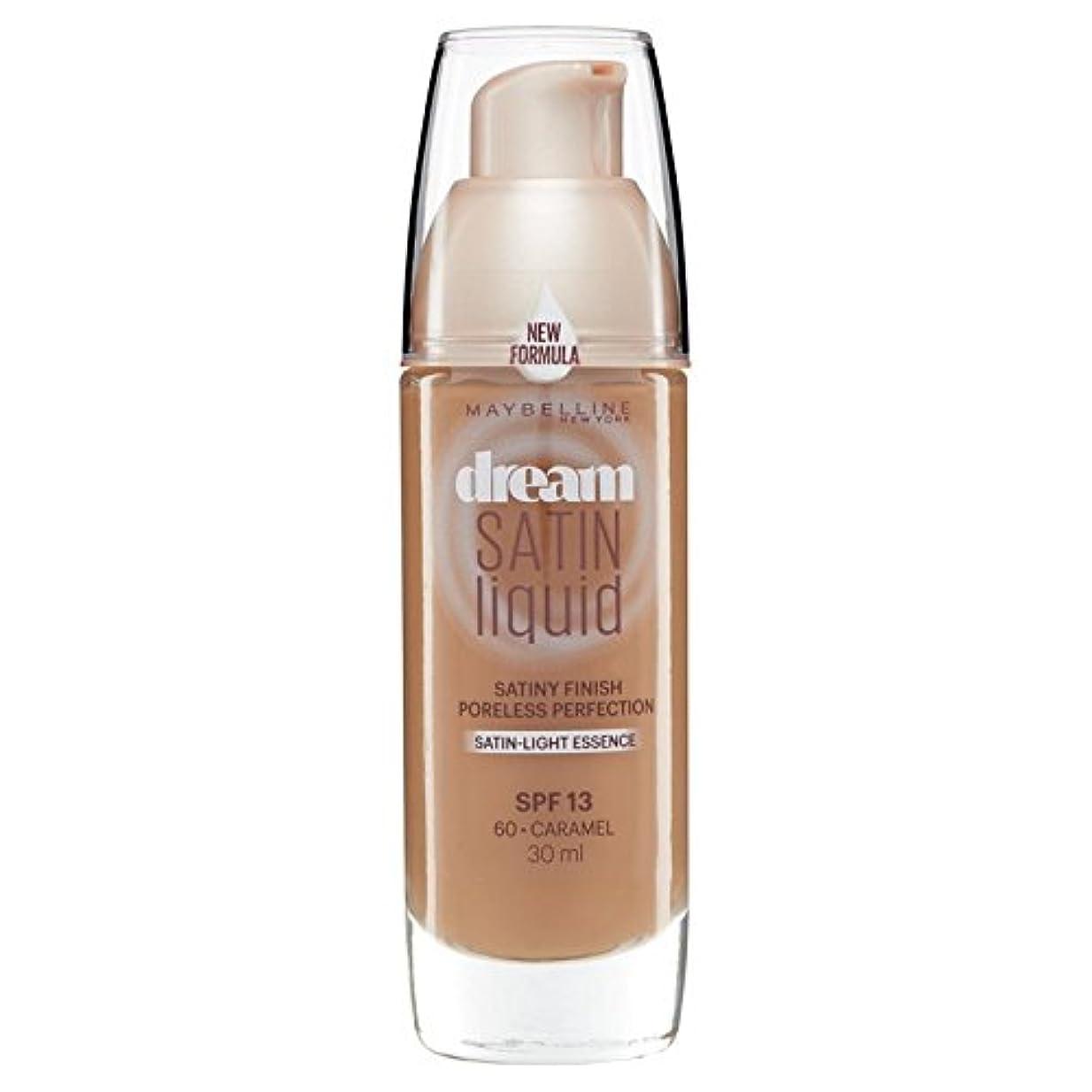 格差温度名声Maybelline Dream Satin Liquid Foundation 060 Caramel 30ml - メイベリン夢のサテンのリキッドファンデーション060キャラメル30ミリリットル [並行輸入品]