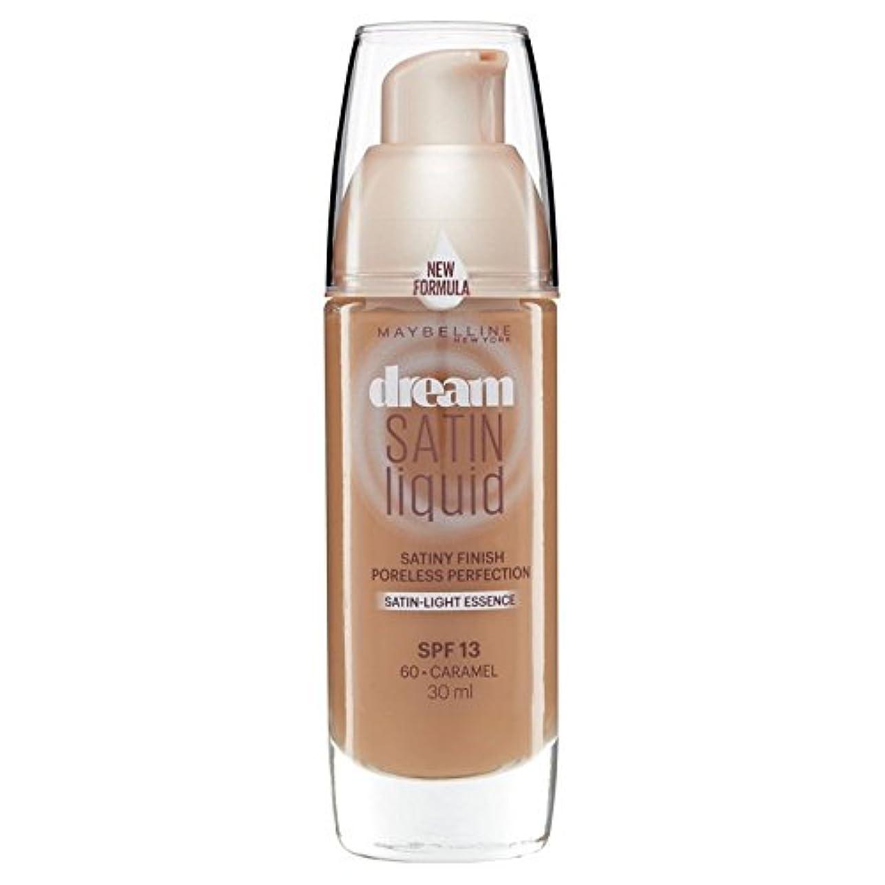 メイベリン夢のサテンのリキッドファンデーション060キャラメル30ミリリットル x4 - Maybelline Dream Satin Liquid Foundation 060 Caramel 30ml (Pack of...