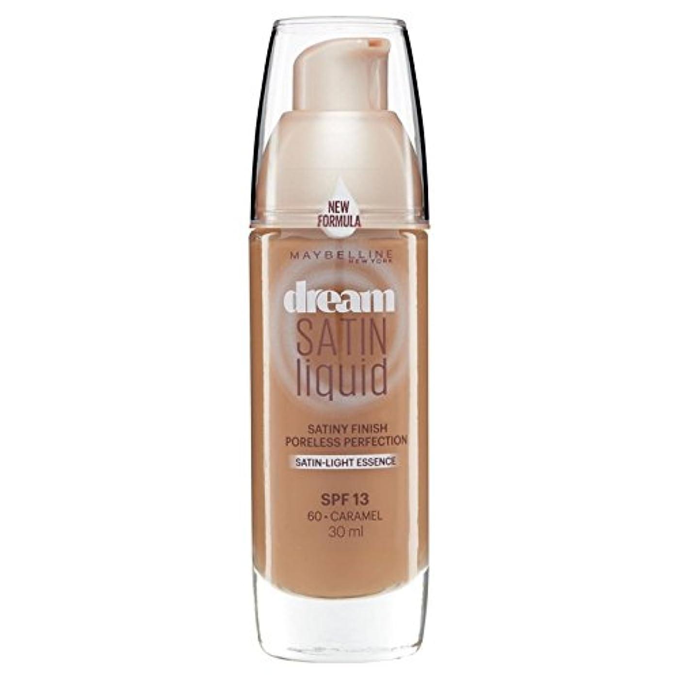 ドライ等々転送Maybelline Dream Satin Liquid Foundation 060 Caramel 30ml (Pack of 6) - メイベリン夢のサテンのリキッドファンデーション060キャラメル30ミリリットル...