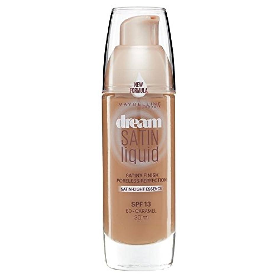 きれいに早く明確なMaybelline Dream Satin Liquid Foundation 060 Caramel 30ml - メイベリン夢のサテンのリキッドファンデーション060キャラメル30ミリリットル [並行輸入品]