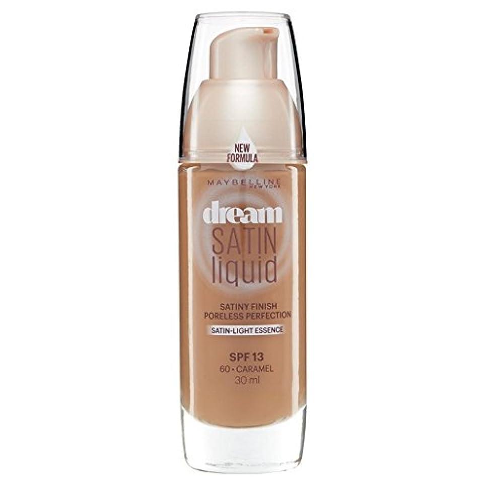 パース効率的発動機Maybelline Dream Satin Liquid Foundation 060 Caramel 30ml - メイベリン夢のサテンのリキッドファンデーション060キャラメル30ミリリットル [並行輸入品]