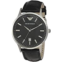 Emporio Armani Men's Classic Analog Analog-quartz Black Watch, (AR2411)