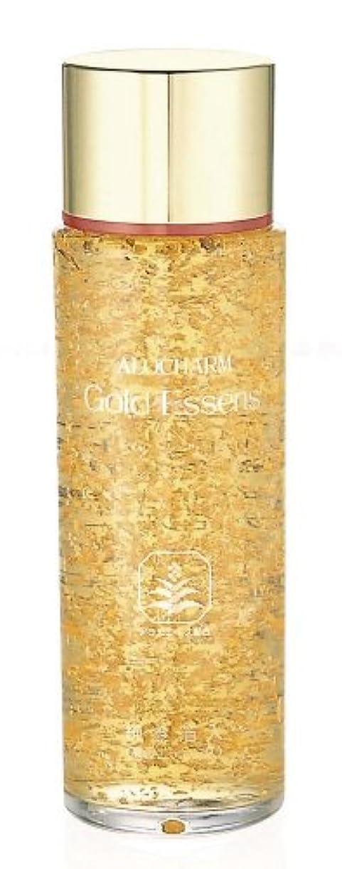 連続した待つ十分なアロチャーム 純金箔入り ゴールドエッセンス 120ml