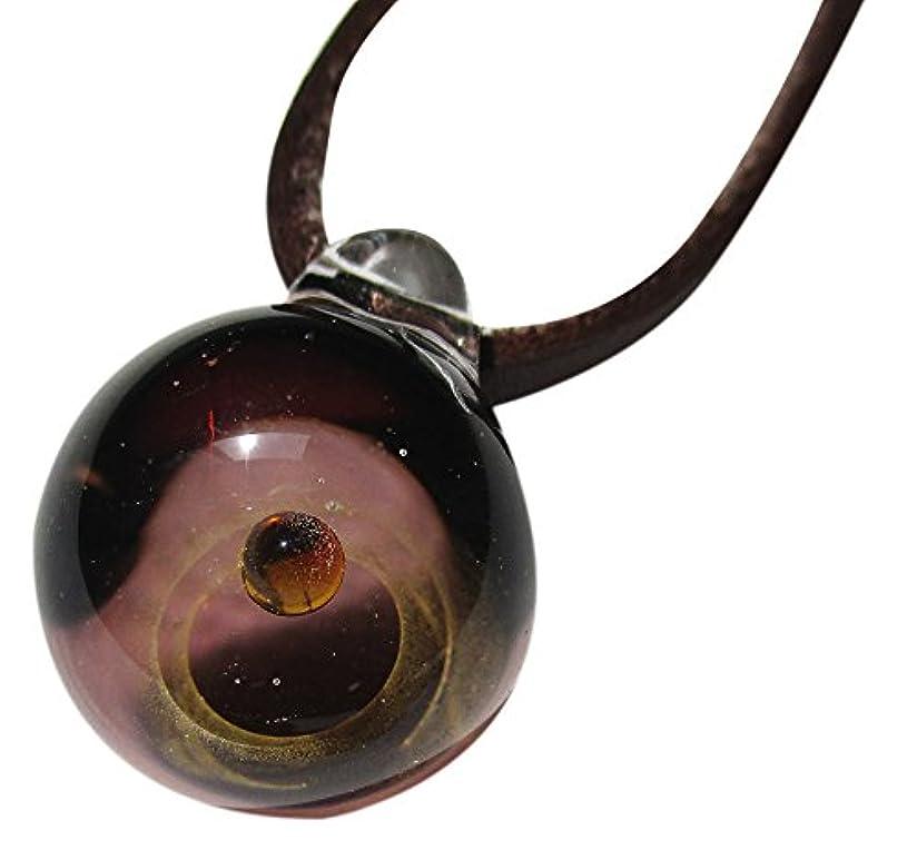 堤防ブラシ貝殻銀河ガラス パープル シルバーラウンド DW1192