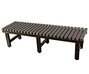 炎天下でも座面が熱くならない! 偽木風樹脂製座面の『アルミ濡れ縁』180×45×40(cm) JTNE-1845