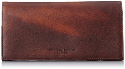 [キャサリンハムネットロンドン] 財布 高級イタリアベジタブルタンニンレザー FLUID フルイド長財布 490-59203 ダークブラウン