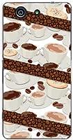 エクスペリア エースフォー SO-04G XPERIA A4 xperia so-04g TPU ソフトケース コーヒーとコーヒー豆 docomo スマホケース ドコモ スマホカバー デザインケース