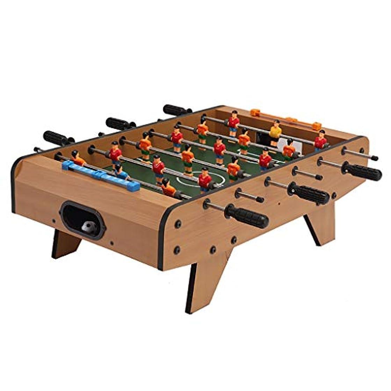 完全に未満セグメントテーブルサッカーフットボールテーブルビリヤードテーブルサッカーゲームパズルゲーム頭脳ゲーム子供のおもちゃ4歳以上の子供のためのおもちゃ子供のためのギフト (Color : WOOD COLOR, Size : 68*39.5*20CM)