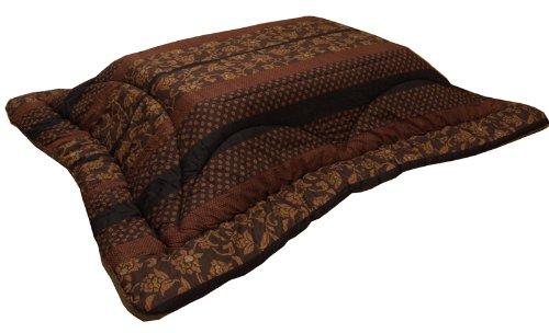 国内プリント こたつ厚掛け布団単品 『万葉』 ブラウン 約205×245cm