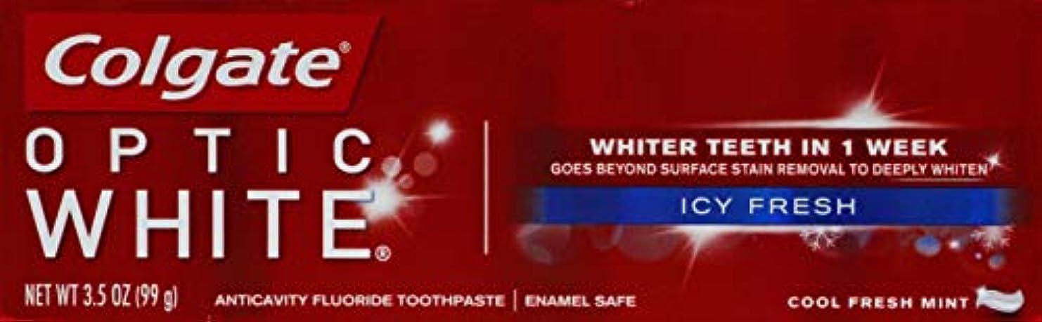 シーボード典型的な汚染するColgate Optic White コルゲート Icy Fresh アドバンス ホワイトニング 99g