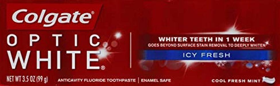 転倒趣味最小化するColgate Optic White コルゲート Icy Fresh アドバンス ホワイトニング 99g