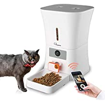 SKYMEE 8L WiFi Pet Feeder Automatic Food Dispenser for Cats & Dogs - 1080P Full HD Pet Camera Treat Dispenser with Night Vision and 2-Way Audio, Wi-Fi Enabled App for iPhone and Android