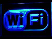 LED看板 ネオンプレート サイン 電飾・店舗看板・標識・サイン カフェ バー ADV PRO i373-b Wi Fi Logo Free Internet Services Light Sign