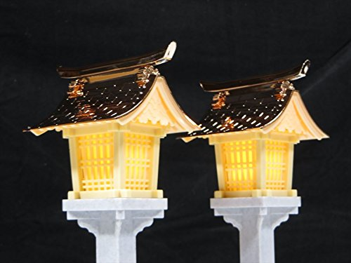 リモコン付 LED灯篭■ゆらぎ■銅屋根19cm■中/大型神棚用 灯籠 L