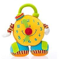 Aodicon ベビーアラーム時計 ガラガラガラ玩具 ソフトアプリース ミュージカルプラッシュ人形 揺れるベビーカーつり下げ教育玩具 新生児用