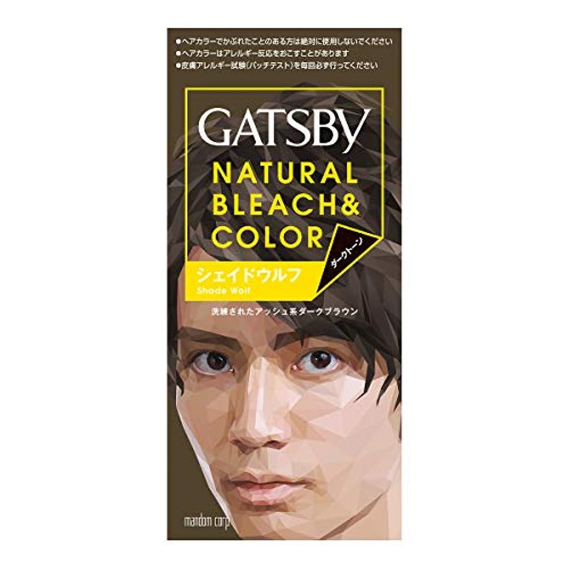 マウントパッケージうがいGATSBY(ギャツビー) ナチュラルブリーチカラー シェイドウルフ 1剤35g 2剤70mL (医薬部外品)