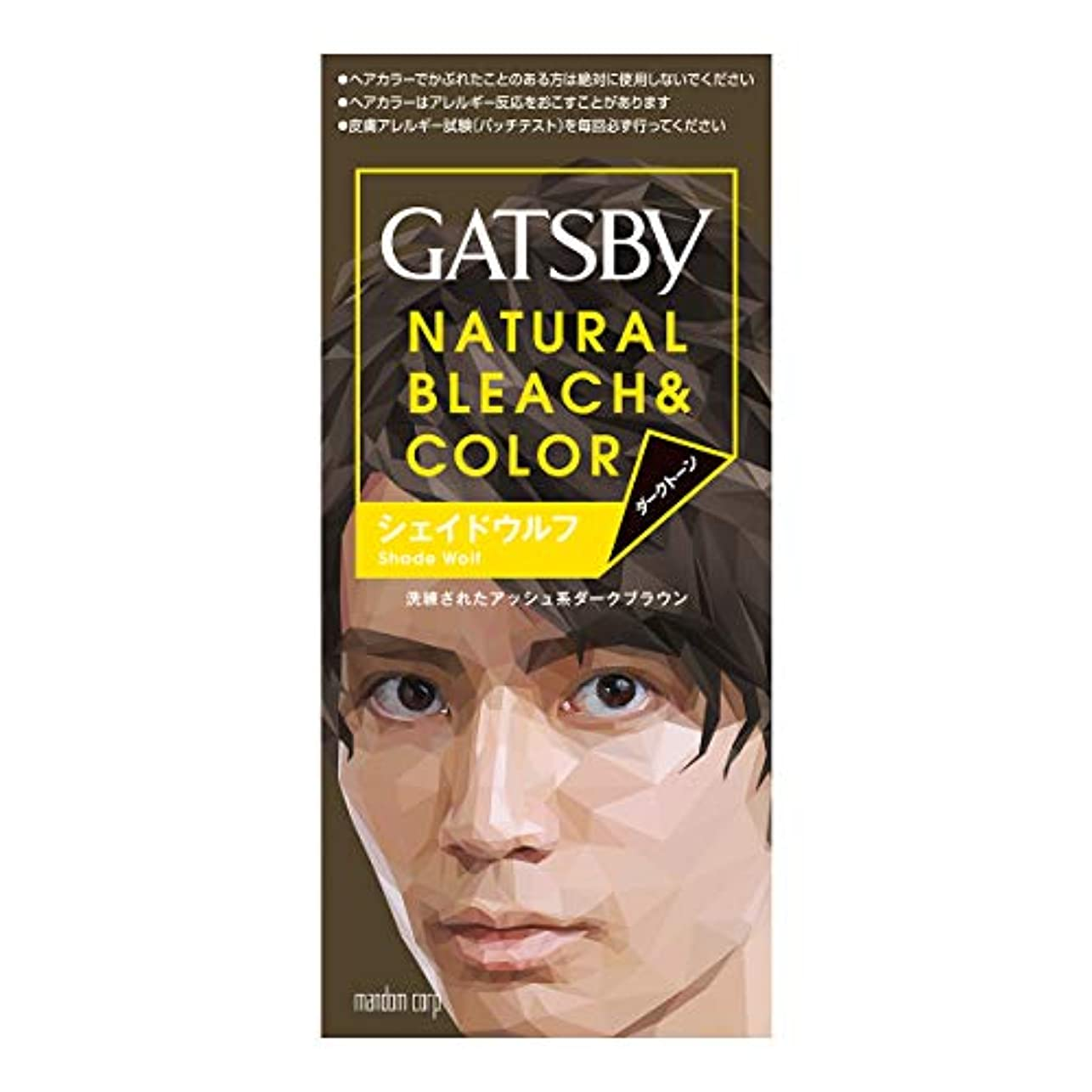 枯渇あなたのものとんでもないGATSBY(ギャツビー) ナチュラルブリーチカラー シェイドウルフ 1剤35g 2剤70mL (医薬部外品)