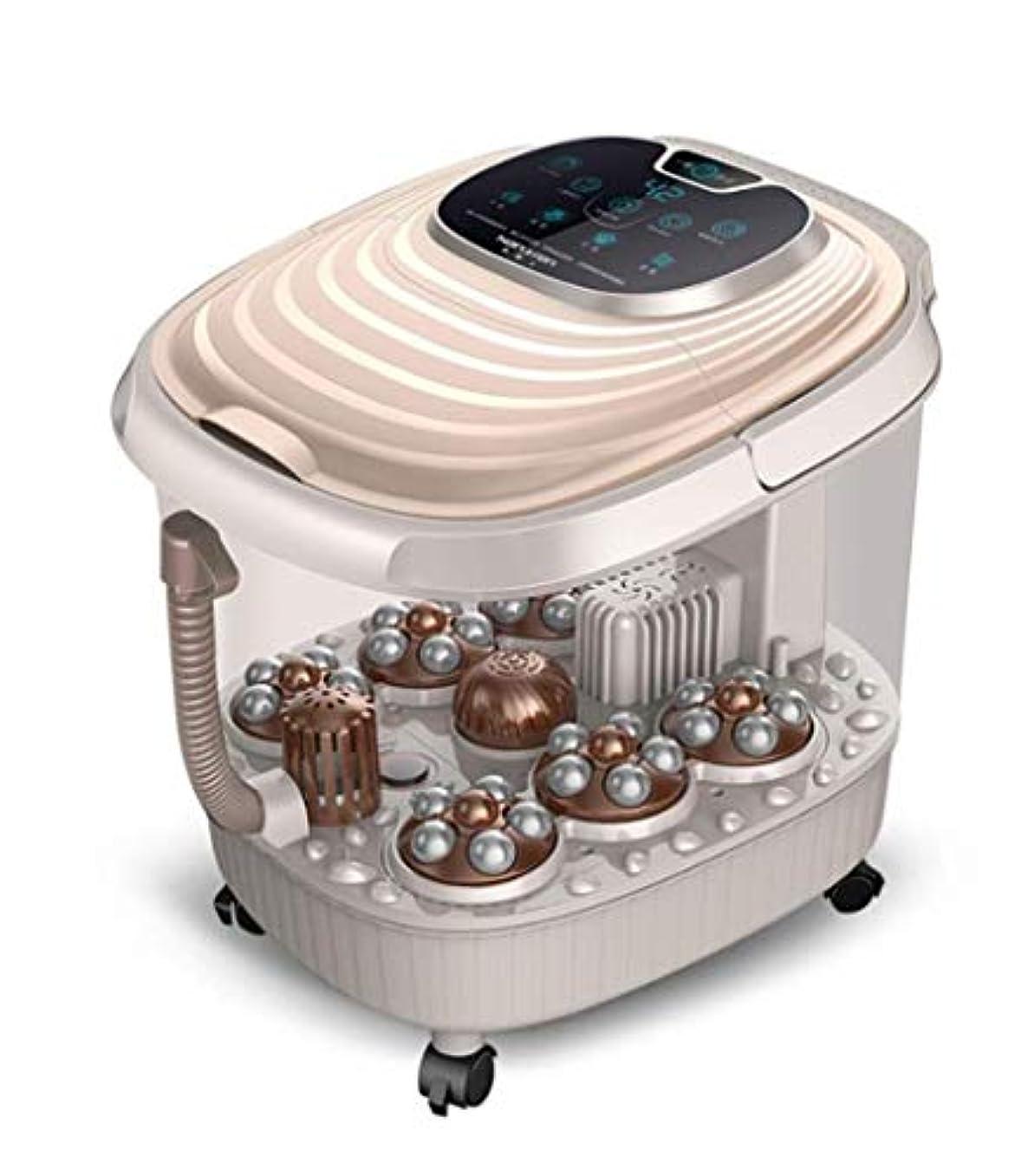 松の木民間誕生電気フットマッサージャー、多機能加熱フットバスバレル/スパマッサージバケット、ローリングマッサージ調節可能な時間/温度、LEDディスプレイ、痛みを和らげ、血液循環を促進/睡眠