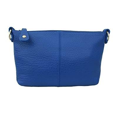[エスワイスタイル] Sy-Style レディース ショルダーバッグ ポシェット 革 レザーミニバッグ 斜めがけショルダーバッグ 斜めかけバッグ [G-105] (BLUE(ブルー))