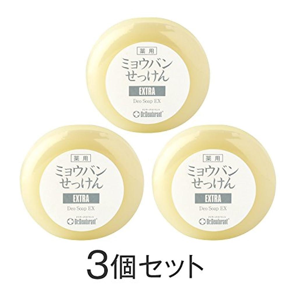 霜複製冊子ドクターデオドラント 薬用ミョウバンせっけんEX(3個セット)