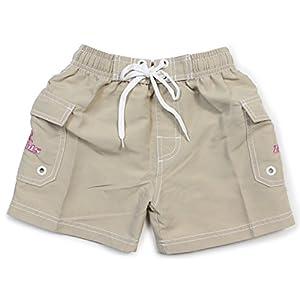 Z-KIDS(ゼット・キッズ) サーフパンツ 女の子 ポケット付き Mサイズ ベージュ