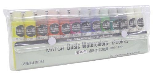 マッチ 水彩絵具 マッチ ベーシックカラー 12色セット 10ml