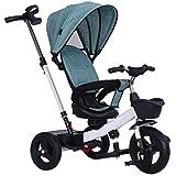 三輪車 トライクトライクトライクトライク1?5歳のベビー三輪車ベビーバイクキッズバイクキッズ三輪車幼児バイク子供サイクル2?5年トライク4色 (Color : Green)