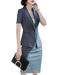 OL レディース 修身 フォマール スーツ スカートスーツ 半袖 通勤 事務服 就活 リクルートスーツ面接 ビジネス 夏秋 薄い