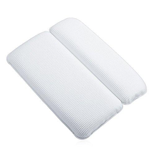 Foloda お風呂 まくら バスピロー 7吸盤 超强吸着 滑り止め付 バスタブ 浴槽枕 枕 安眠 人気 肩こり 熟睡 浴用品 横向き枕 (white)