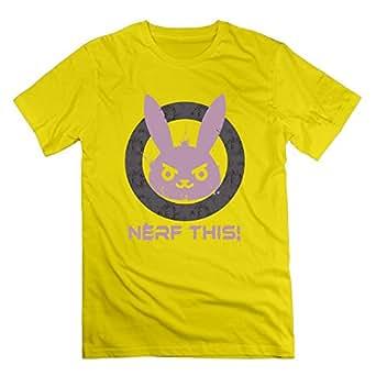 兎 攻撃を弱化 ディフェンス Nerf Tシャツ 半袖 メンズ オリジナル 3X イエロー