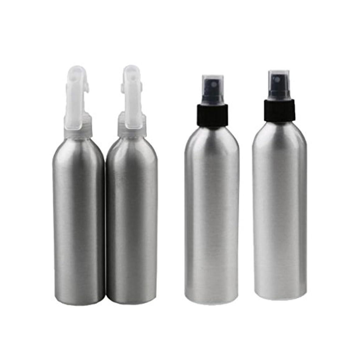 いいね完全に合わせて4個 2x100ml 2x50ml アルミ 空 ミストスプレー ボトル メイクアップ 香水 スプレーアトマイザー 便利