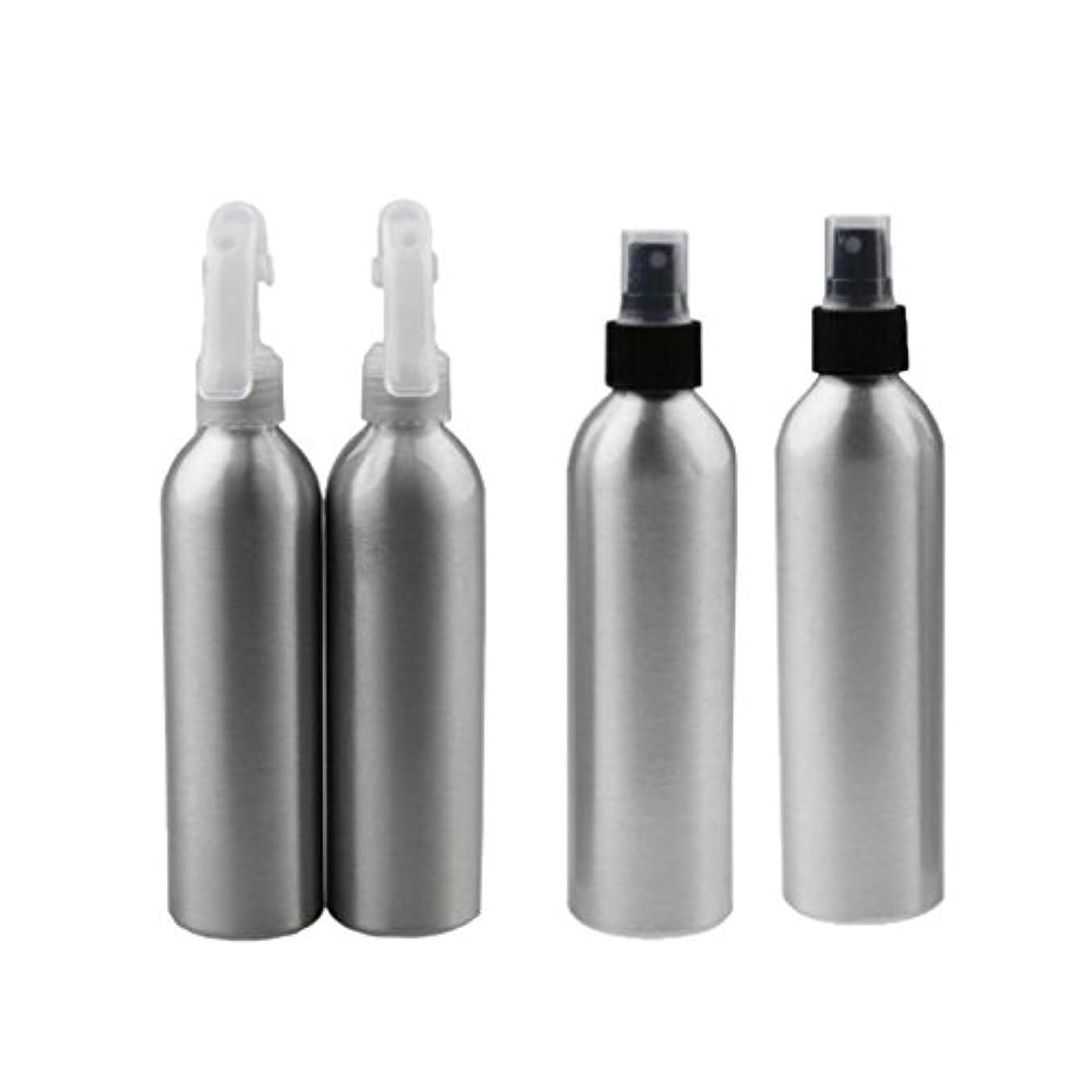 中止します集団的甲虫4個 2x100ml 2x50ml アルミ 空 ミストスプレー ボトル メイクアップ 香水 スプレーアトマイザー 便利