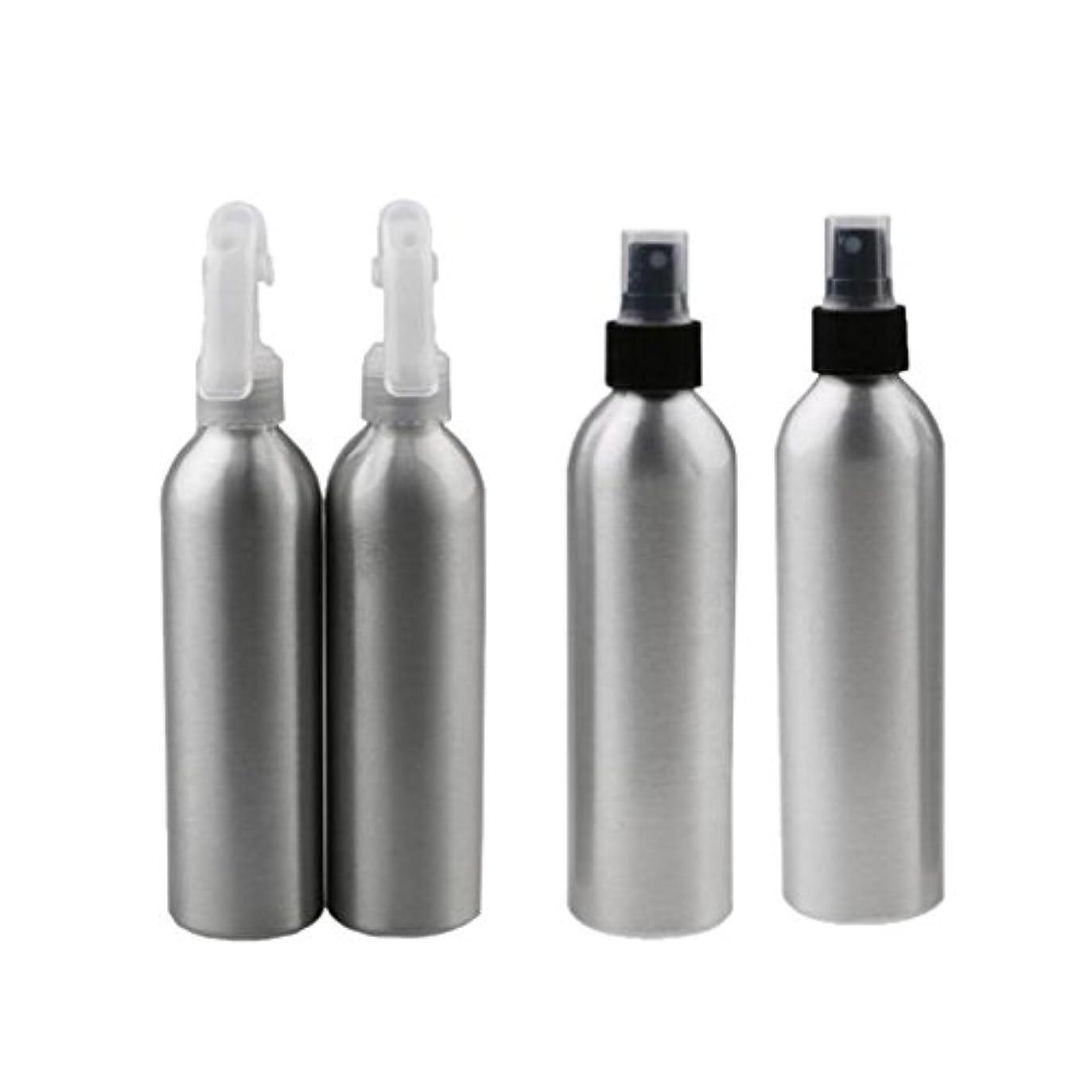 Baosity 4個 2x100ml 2x50ml アルミ 空 ミストスプレー ボトル メイクアップ 香水 スプレーアトマイザー 便利