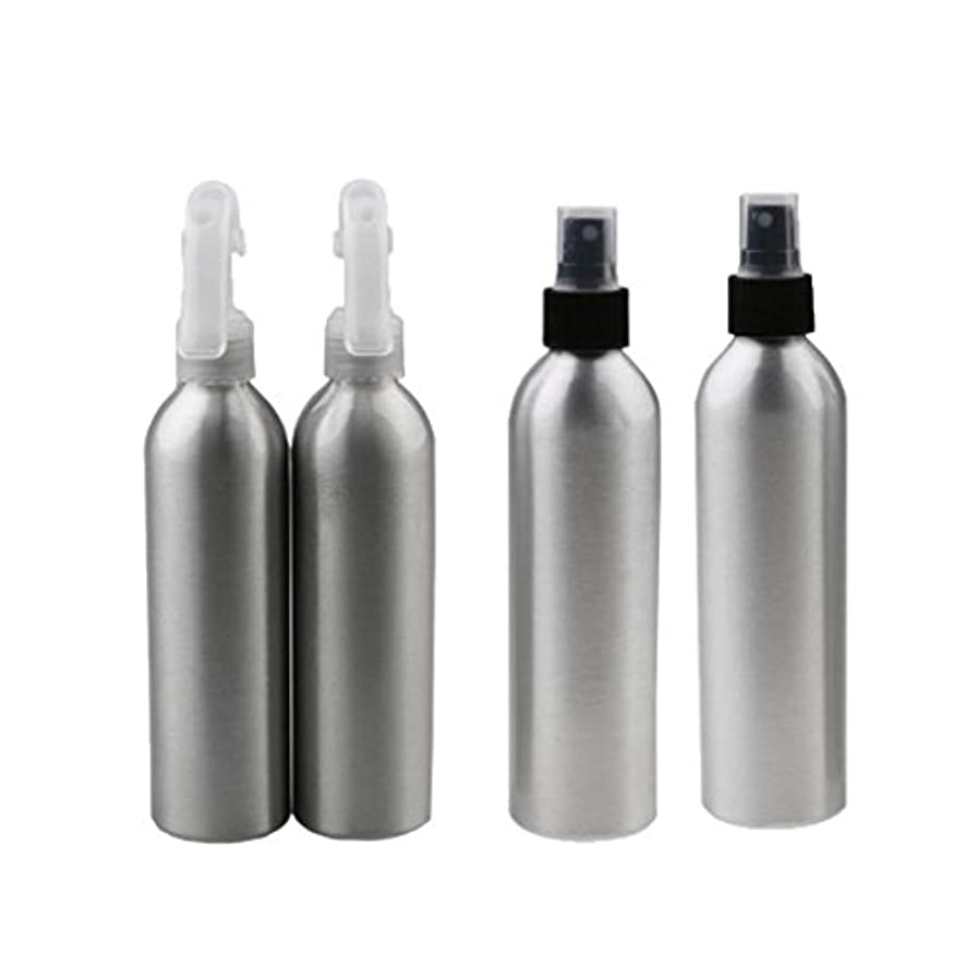 パッチ落花生承認Baosity 4個 2x100ml 2x50ml アルミ 空 ミストスプレー ボトル メイクアップ 香水 スプレーアトマイザー 便利