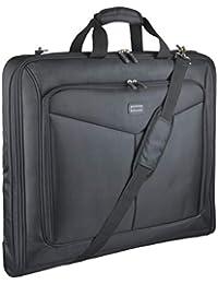 GYSSIEN ガーメントバッグ メンズ スーツ カバー バッグ ガーメント バック 軽量 3つスーツ入れる、M サイズ ブラック