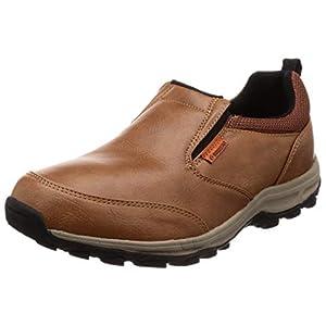 [ムーンスター] 防水 スリッポン スニーカー 靴 幅広 4E 抗菌防臭 SPLT M157 メンズ ライトブラウンS