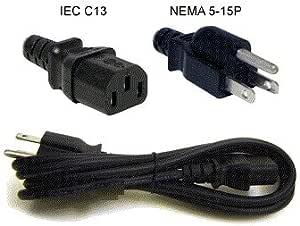 Set Ac Power Cord 10A 125V 6-FT LR65068 E69338 EF-28 to 019 ExpressUSA T.M NEMA-15P to C13