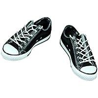 Dovewill 1ペア  1/6スケール キャンバスシューズ  靴 スニーカー 12 インチ男性のアクションフィギュア用 アクセサリー  - 黒