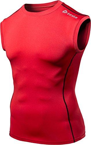 (テスラ)TESLA スリーブレス ラウンドネック スポーツシャツ [UVカット・吸汗速乾] コンプレッションウェア パワーストレッチ アンダーウェア R15 / MUA05 / MUA75