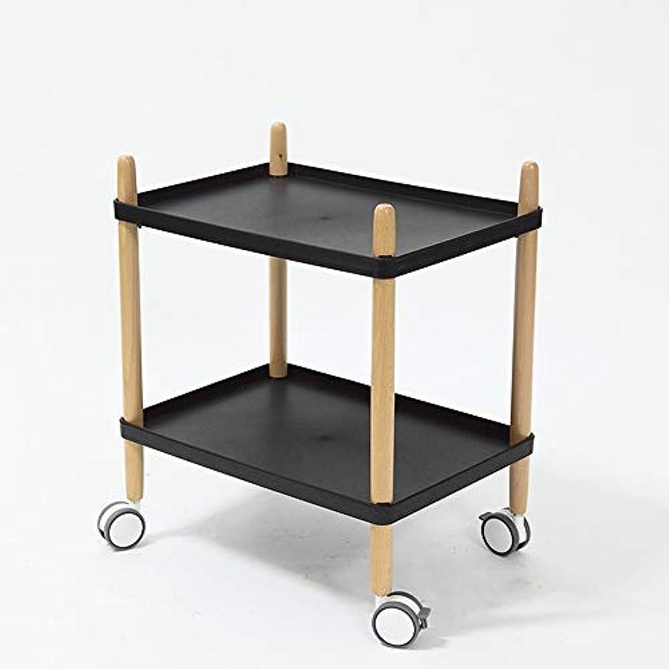 マニアを除く誇大妄想HUO 家庭用トロリー食堂車モバイル収納サイドテーブル多機能小さなテーブル-35 * 49 * 59 cm (色 : A)