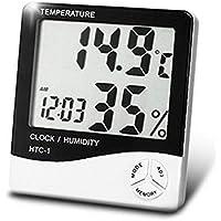 Departmenhouse デジタル温湿度計 湿度計/温度計/アラーム 温度 測定器/カレンダー/目覚まし時計5つの機能の壁に取り付け