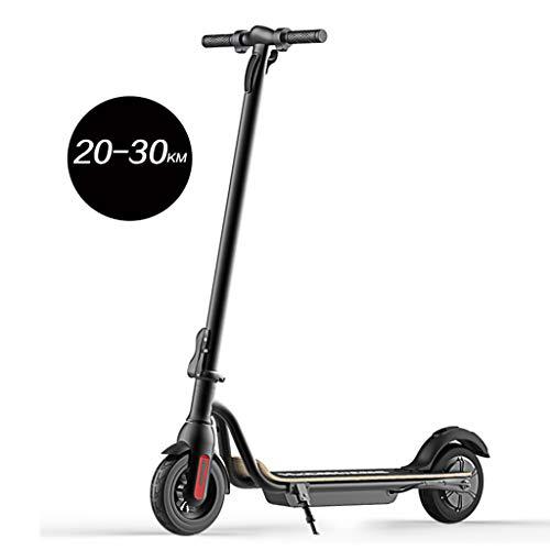 S10電動スクーター、強力な250Wモーター、最大28マイルのリモートバッテリー、最大15.6 MPH、8インチの非空気圧内部フォームラバータイヤ、ポータブル折りたたみ式通勤電動スクーター
