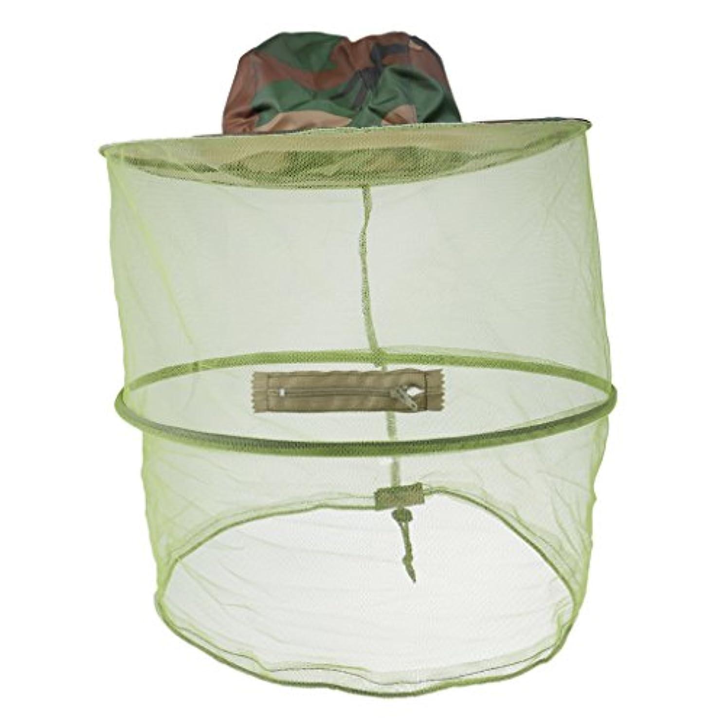 飛躍接続編集者DYNWAVE ネットハット 釣り帽子 蚊除け 虫除け 頭顔保護 園芸 農作業 全3選択