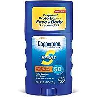 Coppertone スポーツ日焼け止めスティック広域スペクトルのSPF 50、1.5オンス
