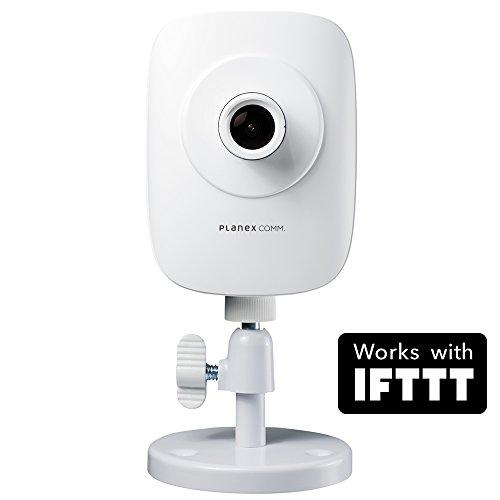 PLANEXネットワークカメラスマカメムーンライト Google Home/Amazon Alexa対応 夜間駐車中の車内からの窓越し監視・双方向通話・モバイルルーター対応・合法カメラCS-QR220