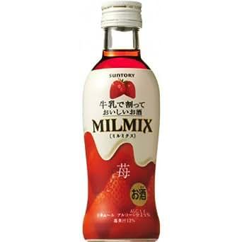 【ミルクで割るデザートなお酒】 サントリー ミルミクス 苺 200ml