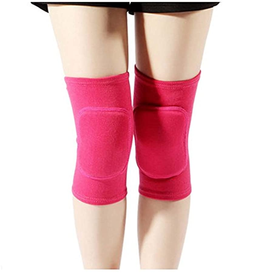 元気分配します球体レディーススポーツダンスを楽しむ膝/膝を鍛えるスポーツ膝、ローズ赤