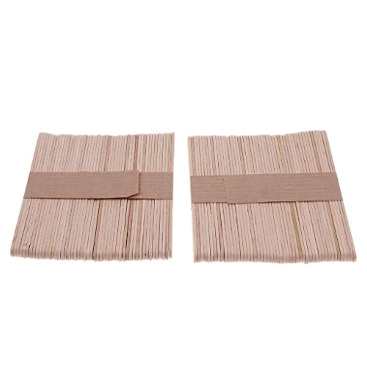 く定義冬木材スティック 脱毛 ワックス用 体毛除去 自宅用 美容院 200個入り 2サイズ選べる - S