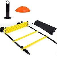 6M トレーニングラダー マーカーコーン カラーディスクコンー セットサッカー フットサル トレーニング 敏捷性 練習器具 収納袋付き