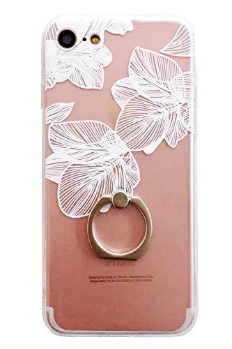 iphone 8ケース リング付き 花柄 iphone8 i...